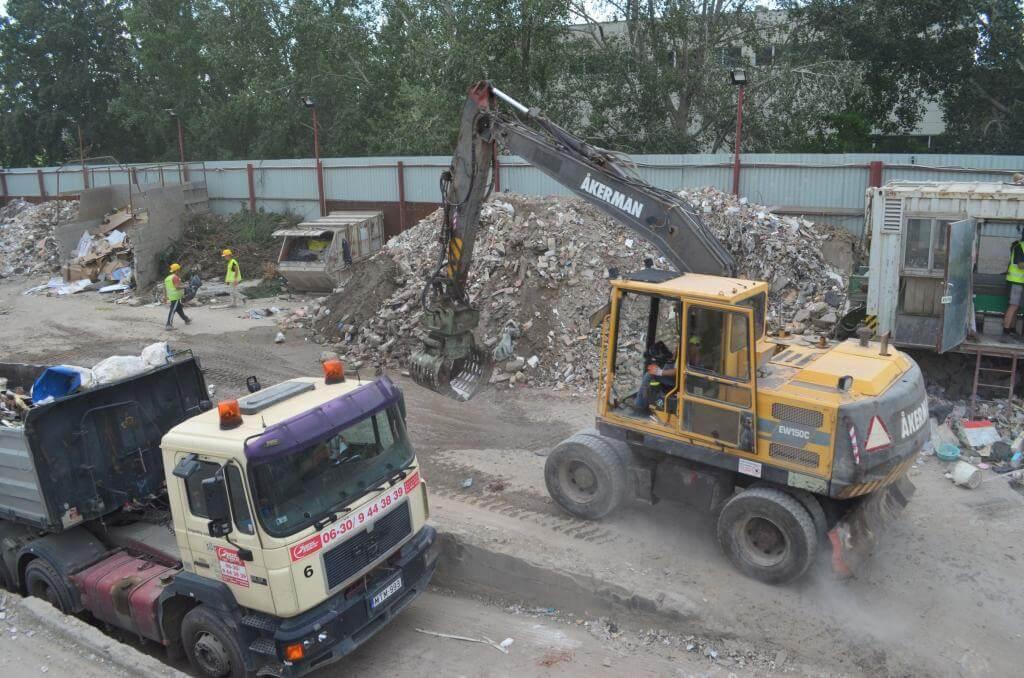 építési hulladék sitt lerakó Budapest